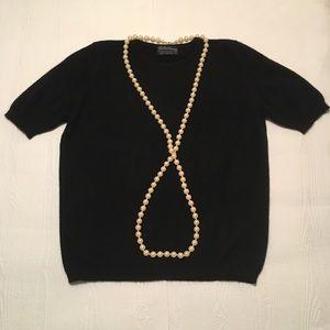 Vintage Burberry Black Cashmere Sweater